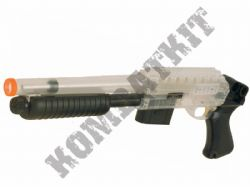 Mossberg 500 Shorty Official Model Spring Airsoft BB Shotgun Clear Black 2 Tone